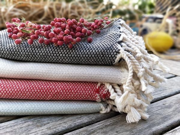 Red Turkish Hand Towels