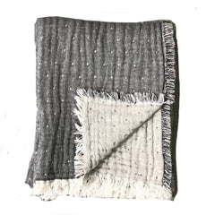 Cozi Throw - Charcoal/Heather Grey