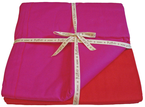 Duvet cover- Red/fuchsia