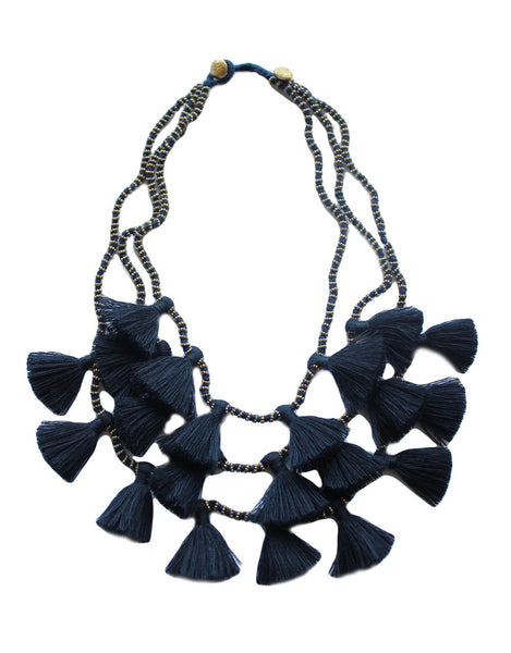 Gia Necklace - Navy