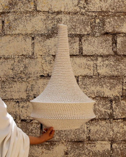 Joosh Crochet Pendant Light - Medium (Soft White)