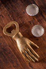 Bottle Opener - Hand Gold Leaf