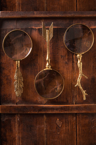 Magnifier Gold Leaf Twig