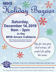 Montclair High School Project Graduation Holiday Bazaar - Saturday December 14th, 9AM-3PM