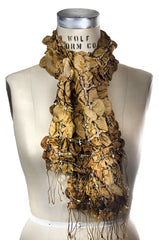 Silk Puckered Scarf- Natural