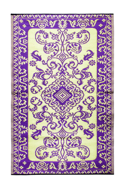 Tracery- Violet: 4X6 Indoor/outdoor floor mat