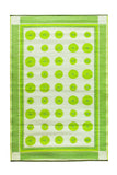 Dots- Plantain: 4X6 Indoor/outdoor floor mat