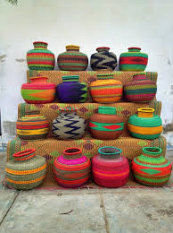 Jemima 10 Cows basket from Ghana, West Africa