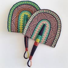 Straw Fan handcrafted in Ghana, West Africa