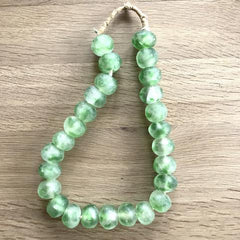 Recycled beads (green)