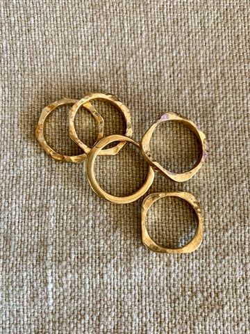 Heirloom Brass Stacking Rings