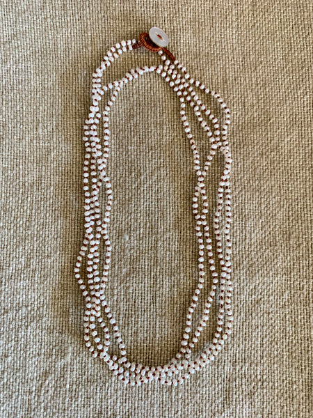 Pearl hand tied and hand knotted necklace