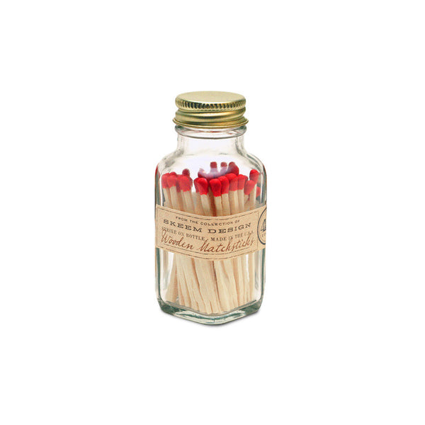 Mini Vintage Match Bottle - Red