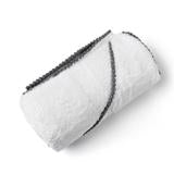 Grey Bamboo Pom Pom Hooded Towel
