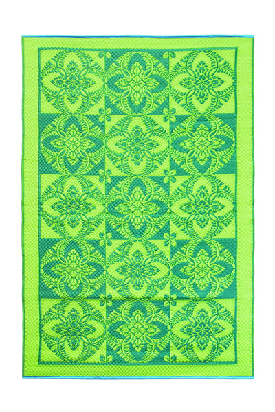 Primrose- Green Apple: 4X6 Indoor/outdoor floor mat