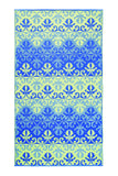 Sari Border: Blue/green- 5X9 -Indoor/outdoor floor mat