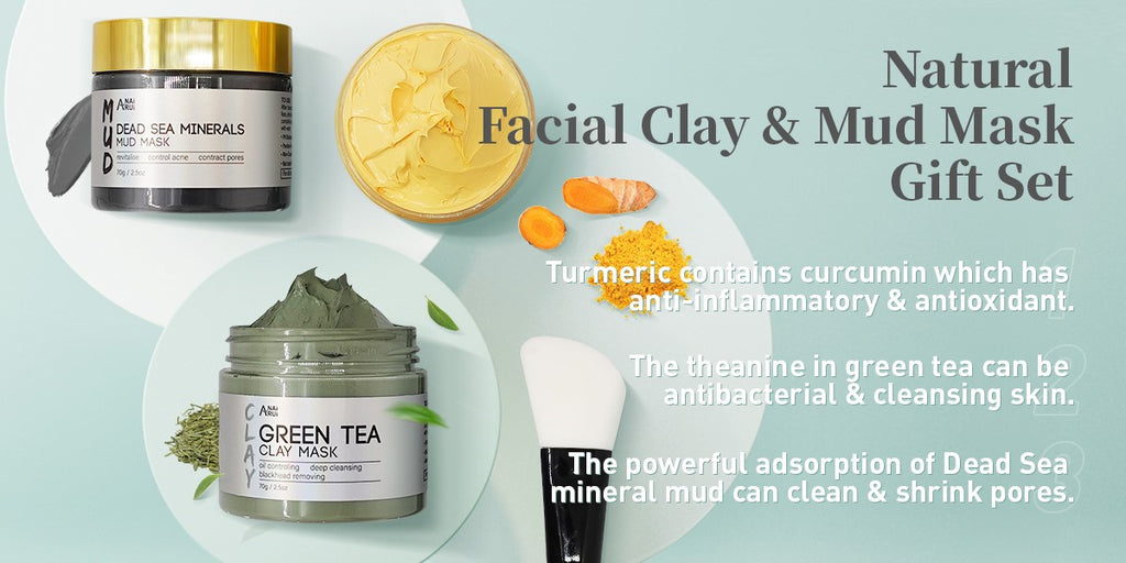 clay face mask set