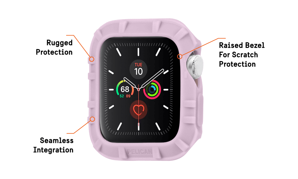 Protector Bumper For Apple Watch Devices 38 - 40 MM - Mauve Purple