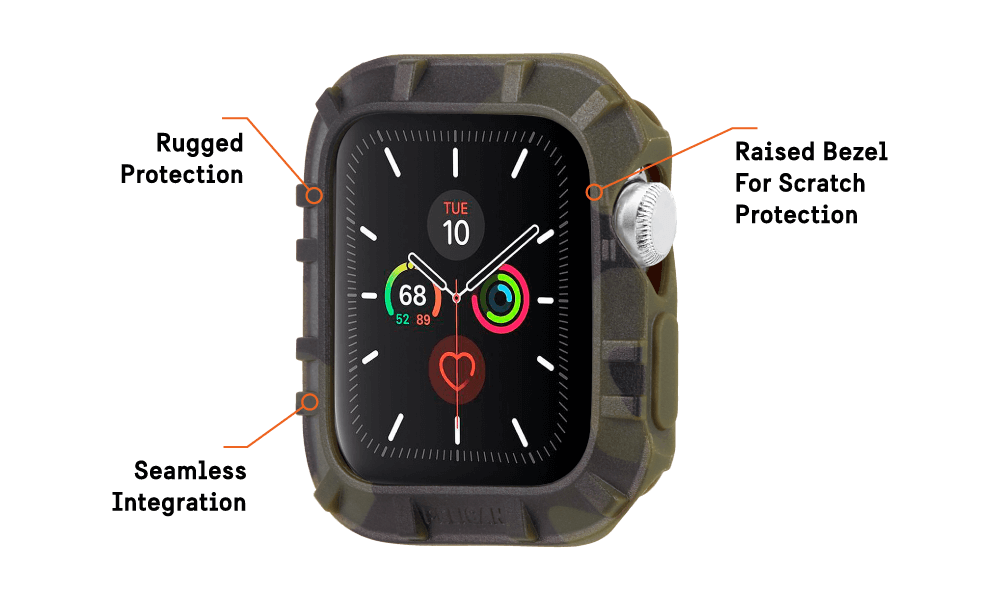 Protector Bumper For Apple Watch Devices 42 - 44 MM - Camo