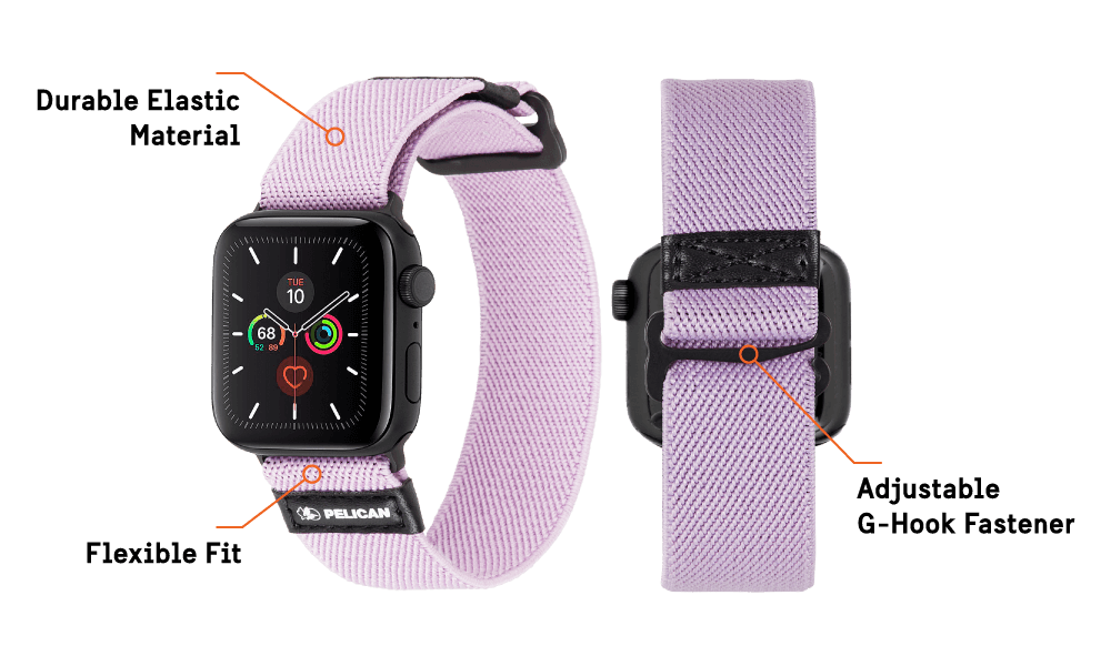 Protector Band for Apple Watch Devices 42 - 44 MM - Mauve Purple