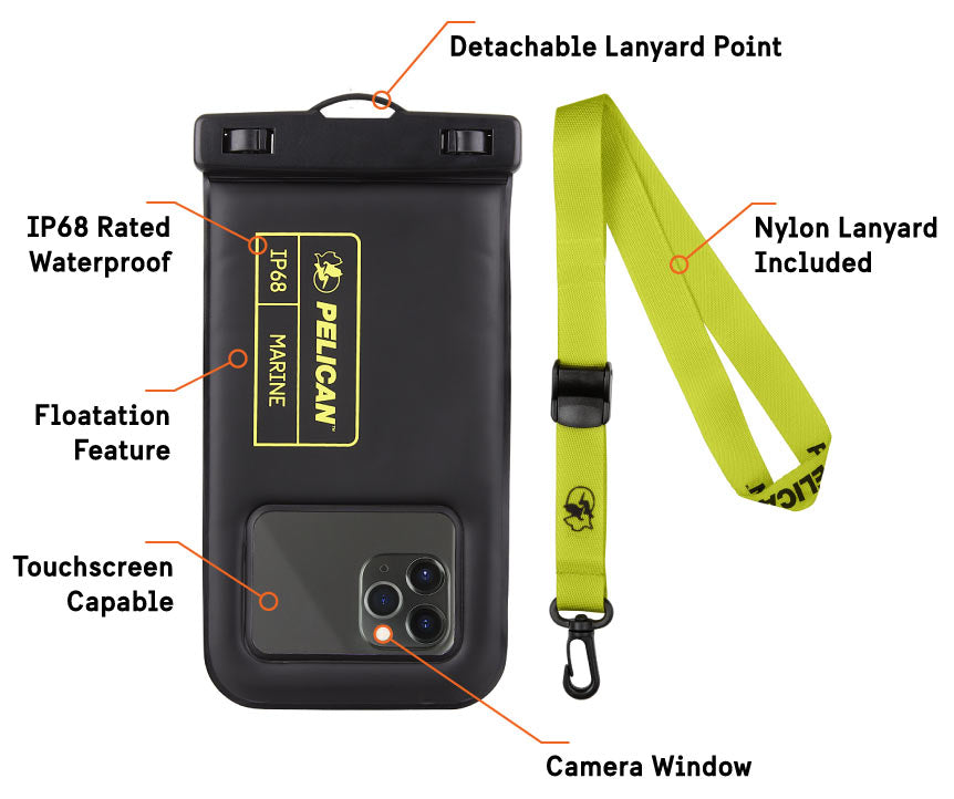 Waterproof Pouch  Feature Callouts