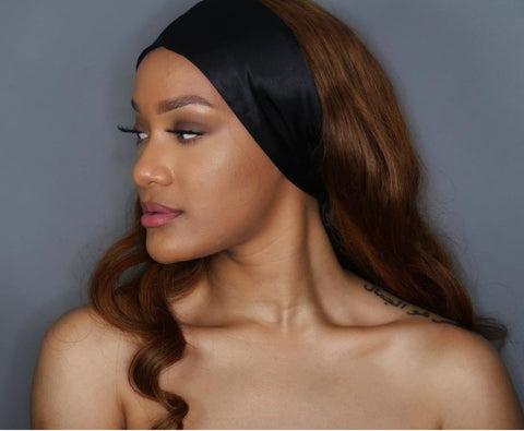Satin head scarf