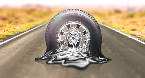 Hot weather tire safety. Melting Tire. Vehicle Maintenance