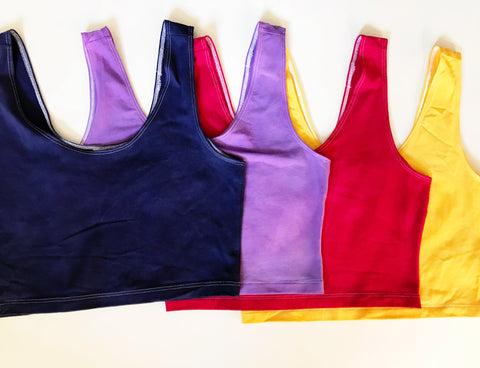 Hand-Dyed Tank Crop Tops