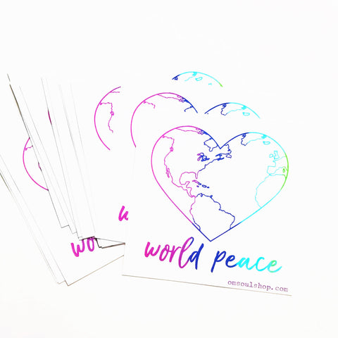 World Peace 4x4 Vinyl Sticker