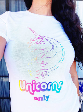 Unicorns Only Tank and Tee