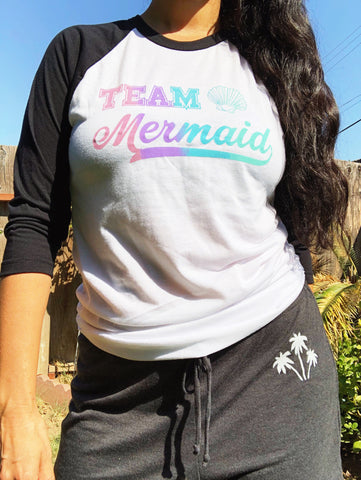 Team Mermaid Baseball Tee