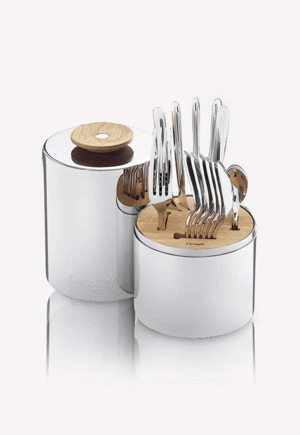 Special Order- 'Essentiel' 24-Piece Stainless Steel Flatware Set with Storage Capsule