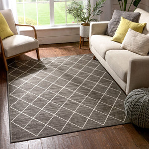 CLOSE OUT 4x8 Power Loom Gray Rug