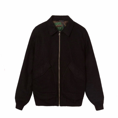 Stussy Boiled Wool Rev. Bomber Jacket
