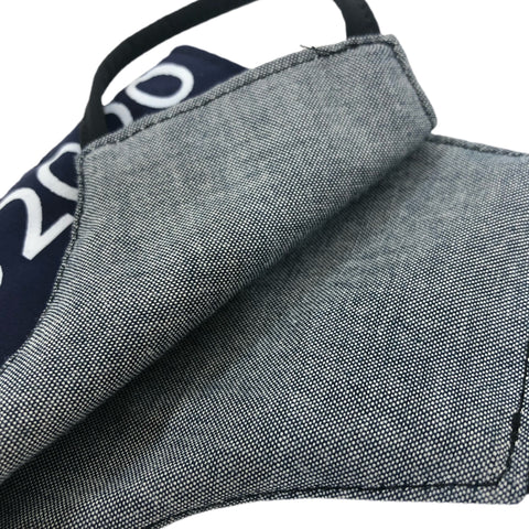 "Compound Gallery ""Repurposed"" Tote Navy Mask"