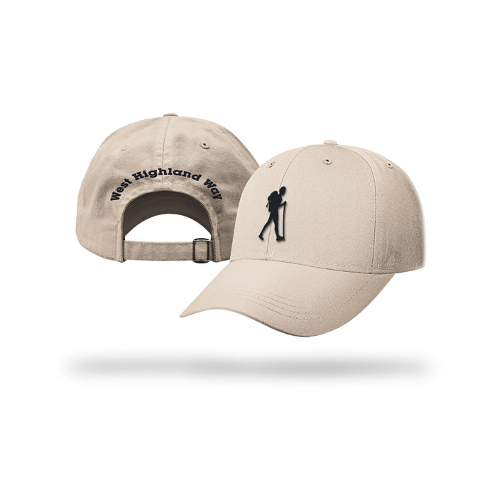 West Highland Way Walker Baseball Cap (Stone)