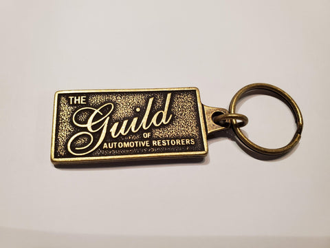 Guild Logo Antique Brass Key Chain