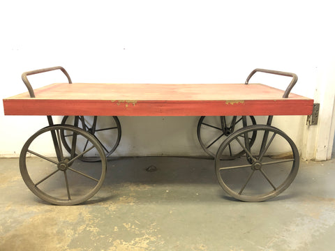 Vintage Wooden Wagon Cart