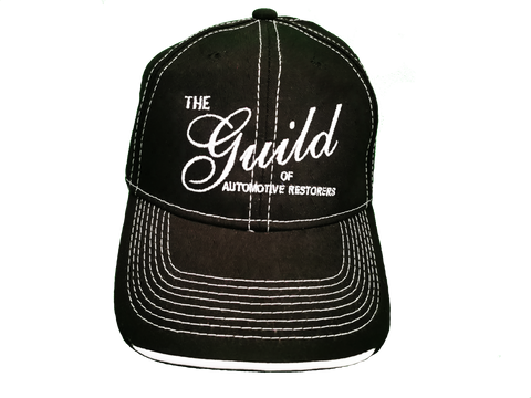 Guild Embroidered Logo Deluxe Chino Twill Cap - Black