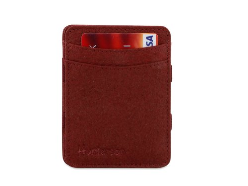 Hunterson Vegan Magic Coin Wallet - mulberry
