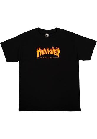 Thrasher Flame Tee (Youth) - black