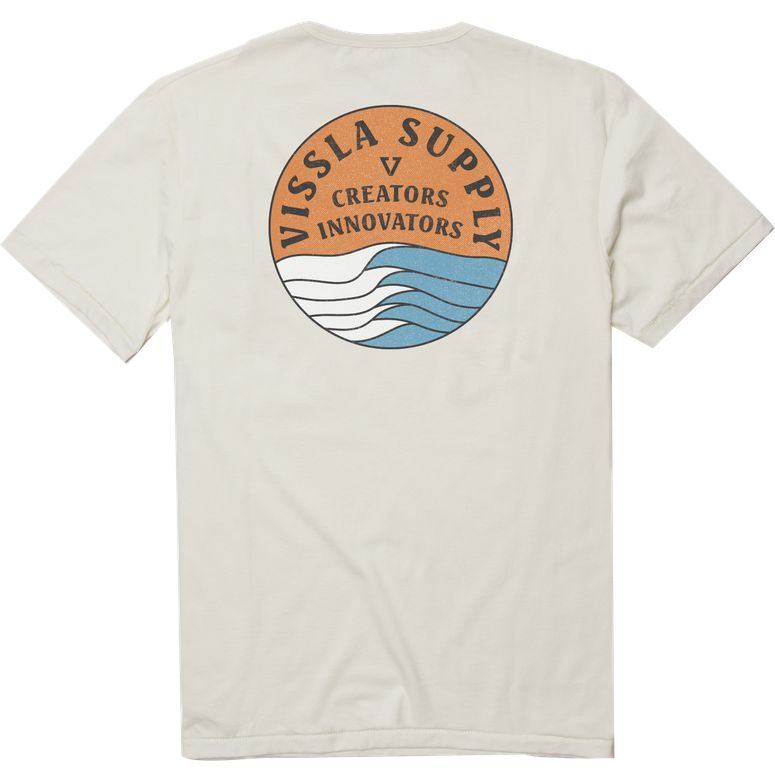 Vissla Stacked Upcycled Tee - bone