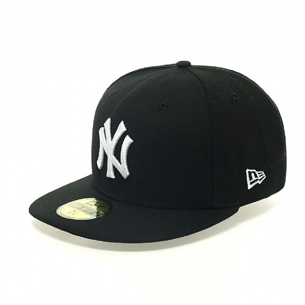 NewEra  MLB BASIC NY YANKEES Cap - black/white