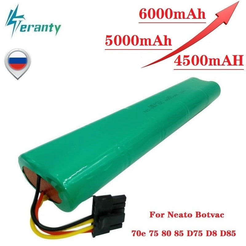 Upgrade 4500mah 5000mah 6000mAh 12V Ni-MH Battery for Neato Botvac 70E 75 80 85 D75 D8 D85 Vacuum Cleaners Rechargeable Battery