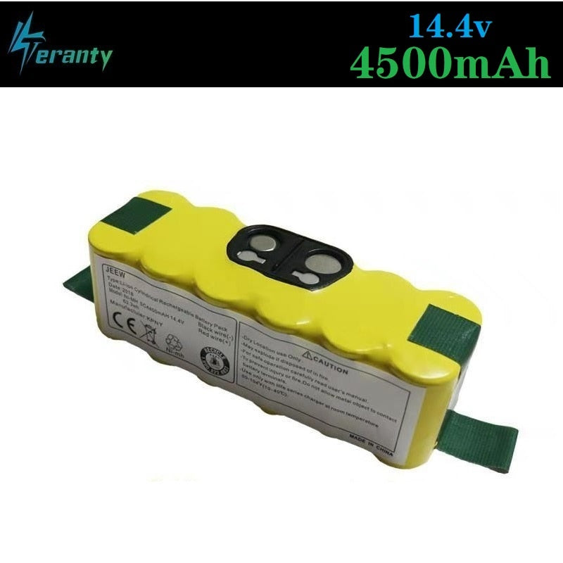 Upgrade Power 4500mAh 14.4v Replacement Battery Extended-for iRobot Roomba 500 600 700 800 Series Vacuum Cleaner 785 530 560 650
