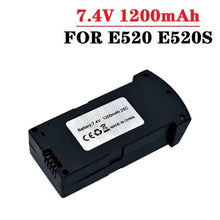 Load image into Gallery viewer, Original 7.4V 1200MAH LiPo Battery For RC E520 E520S RC Quadcopter Spare Parts 1200 mAh 25C 7.4V Drones Battery with Charger