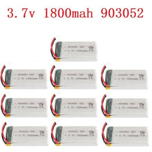 Load image into Gallery viewer, 1/2/5/10PCS 3.7v 1800mAh Rechargeable Battery for SYMA X5SW X5 X5S X5C M18 H5P KY601S 903052 3.7v Lipo battery with XH2.54 Plug