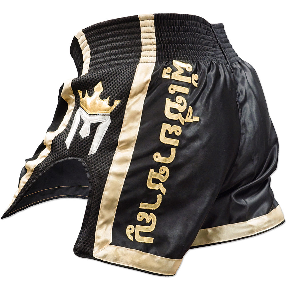 Meister ELITE Muay Thai Shorts - Black/Gold