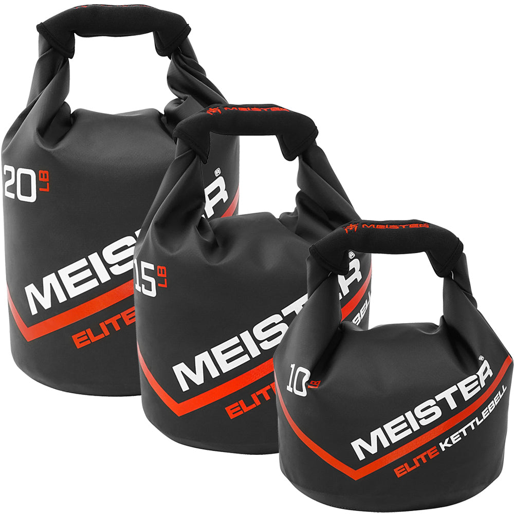 and Increased Seam Strength Fnoko 3PC Sandbag Kettlebell 10 LB 900D Outer Construction SBody Soft Kettlebell with Handle 20 LB