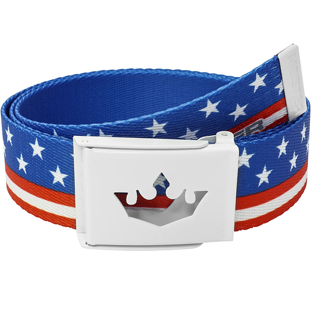 Meister Player Web Golf Belt - American Flag